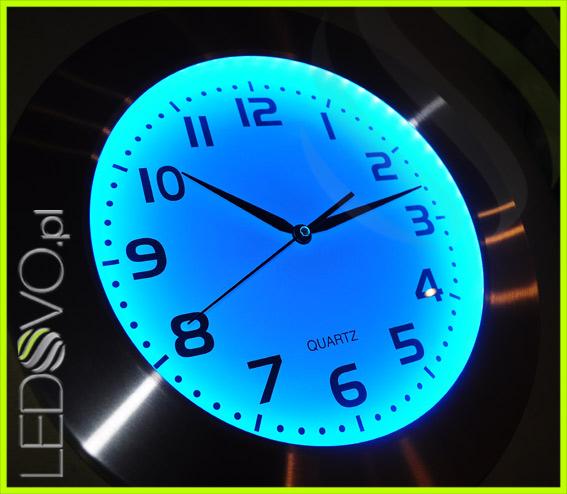 Zegar Led Rgb Flux 16 Barw Podświetlenia Pilot 41 Cm