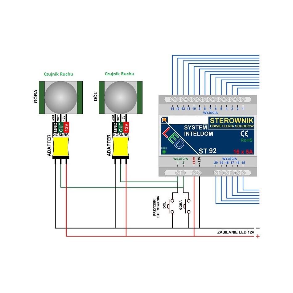 Sterownik Oświetlenia Schodów Standard St92 Sklep