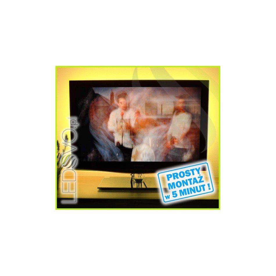 Podświetlenie Led Telewizora Oświetlenie Tv Biały Ciepły