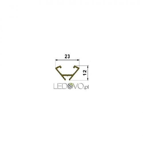 MIKRO-LED PROFIL KĄTOWY 45 STOPNI LD11 SZYBKA SZRONIONA 1m