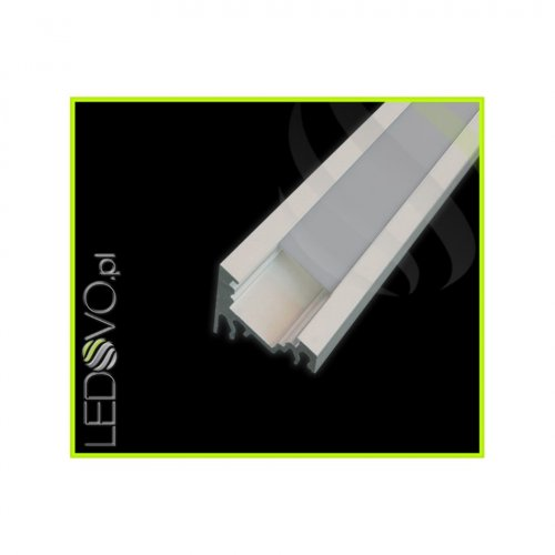 PROFIL KĄTOWY SX1 aluminium anodowane / szybka szron / 1m