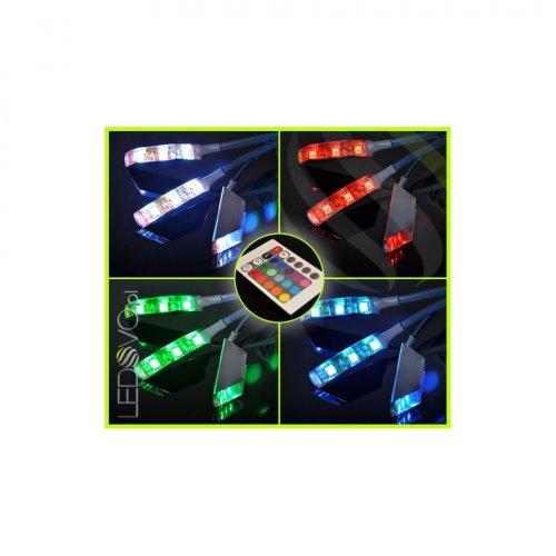 KLIPSY LED Ledovo FLUX / ZESTAW 3 KLIPSÓW/ RGB/ kable czarne