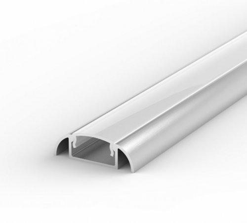 Profil LED Nawierzchniowy P2-1 anodowany z kloszem mlecznym 1m