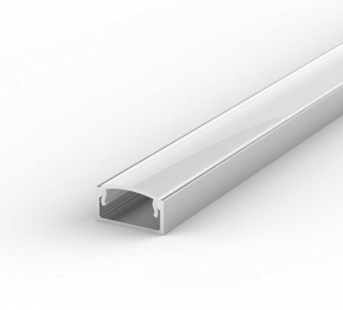 Profil LED Nawierzchniowy P4-1 anodowany z kloszem mlecznym 2m