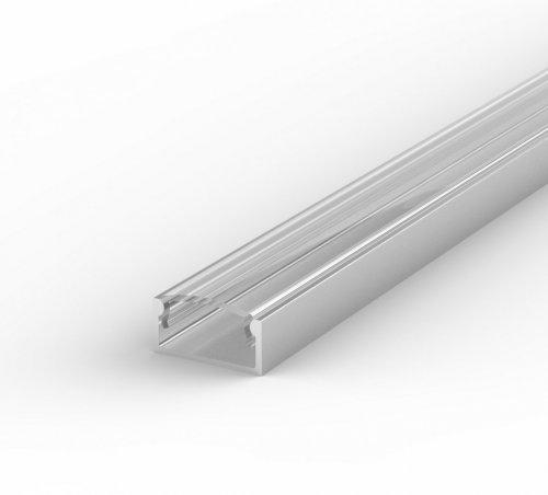 Profil LED Nawierzchniowy TLD4-1 anodowany z kloszem transparentnym 2m