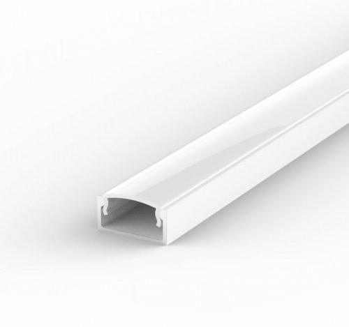 Profil LED Nawierzchniowy P4-1 biały lakierowany z kloszem mlecznym 1m