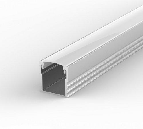 Profil LED Nawierzchniowy P5-1 anodowany z kloszem mlecznym 2m