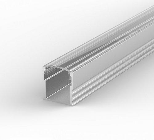 Profil LED Nawierzchniowy P5-1 anodowany z kloszem transparentnym 2m