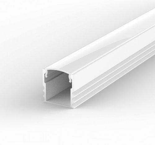 Profil LED Nawierzchniowy P5-1 biały lakierowany z kloszem mlecznym 2m