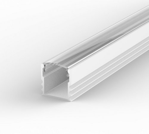 Profil LED Nawierzchniowy TLD5-1 biały lakierowany z kloszem transparentnym 2m