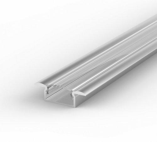 Profil LED Wpuszczany TLD6-1 anodowany z kloszem transparentnym 1m
