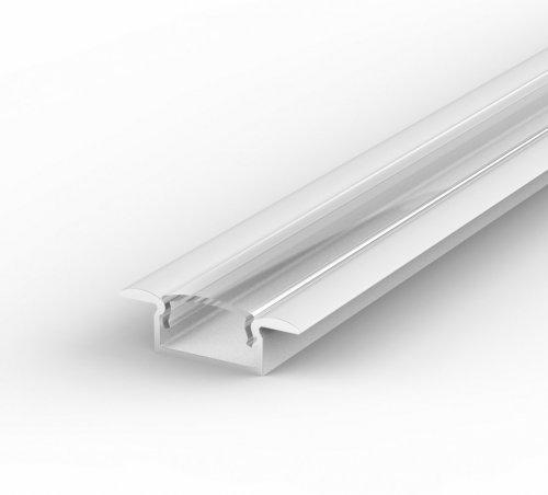 Profil LED Wpuszczany TLD6-1 biały lakierowany z kloszem transparentnym 1m