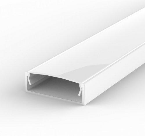 Profil LED Nawierzchniowy P13-1 biały lakierowany z kloszem mlecznym 1m