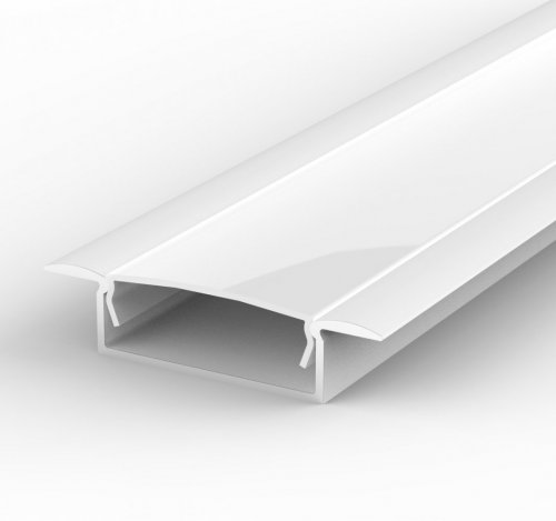 Profil LED Wpuszczany P14-1 biały lakierowany z kloszem mlecznym 1m