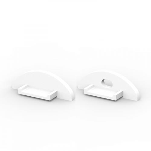 Zaślepki boczne do profili P2-1 białe (2 sztuki)