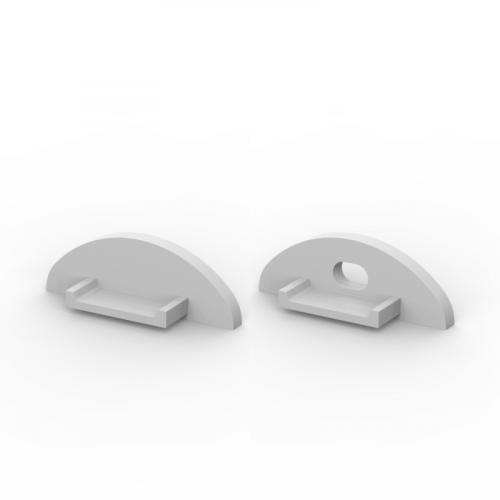 Zaślepki boczne do profili P2-1 srebrne (2 sztuki)