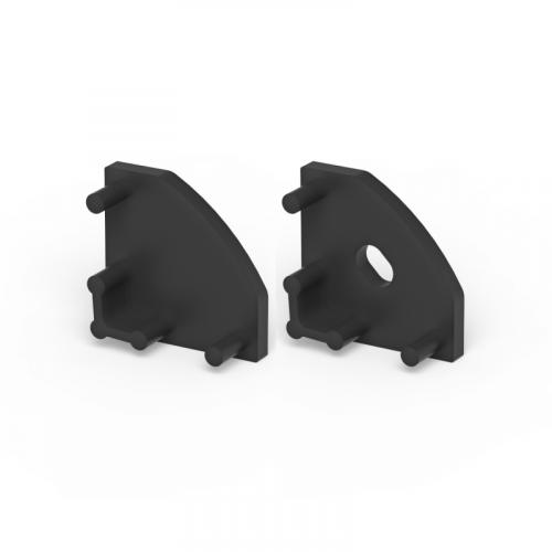 Zaślepki boczne do profili P3-1 czarne (2 sztuki)