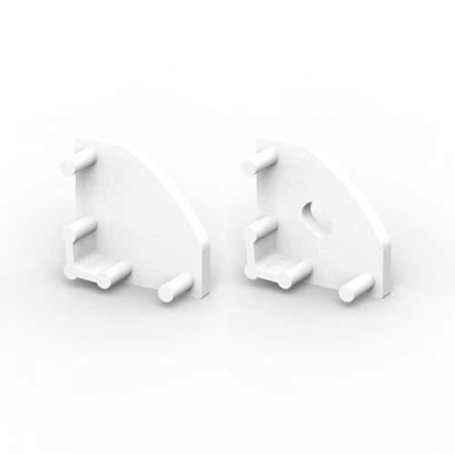 Zaślepki boczne do profili P3-1 białe (2 sztuki)