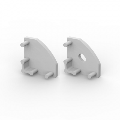 Zaślepki boczne do profili TLD3-1 srebrne (2 sztuki)