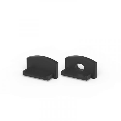 Zaślepki boczne do profili P4-1 czarne (2 sztuki)