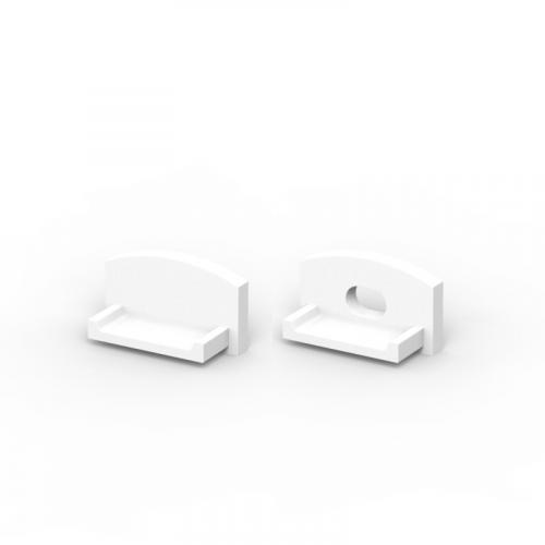 Zaślepki boczne do profili TLD4-1 białe (2 sztuki)