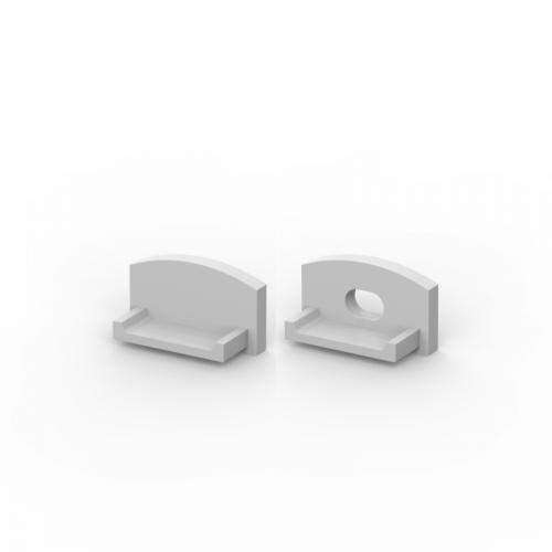 Zaślepki boczne do profili P4-1 srebrne (2 sztuki)