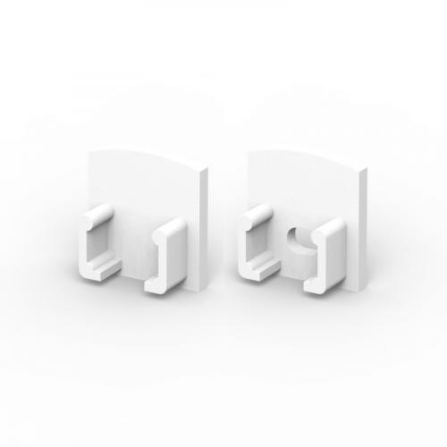Zaślepki boczne do profili P5-1 białe (2 sztuki)