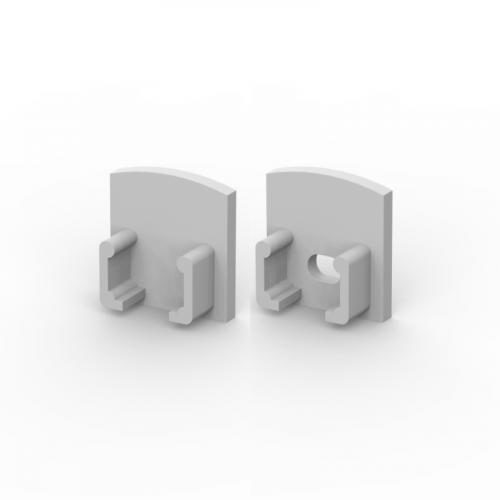 Zaślepki boczne do profili P5-1 srebrne (2 sztuki)