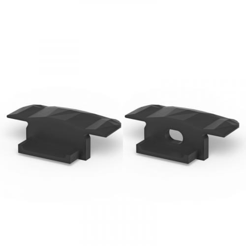 Zaślepki boczne do profili P6-1 czarne (2 sztuki)
