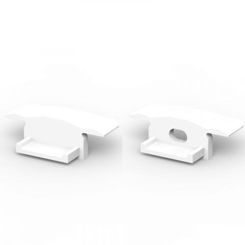 Zaślepki boczne do profili P6-1 białe (2 sztuki)
