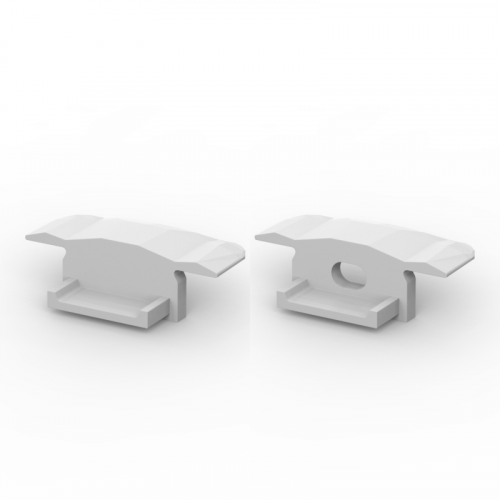 Zaślepki boczne do profili P6-1 srebrne (2 sztuki)