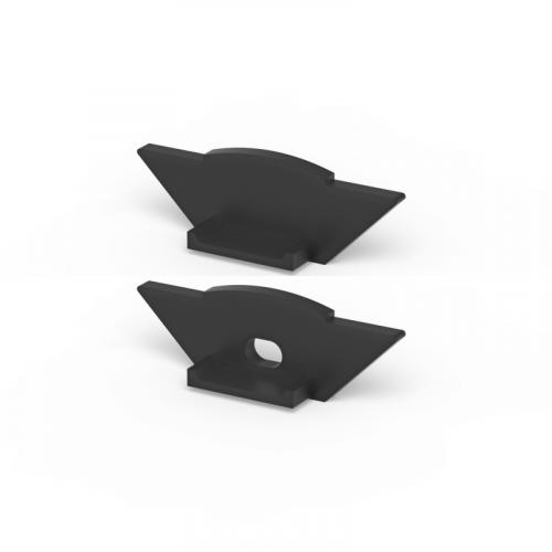 Zaślepki boczne do profili P7-1 czarne (2 sztuki)