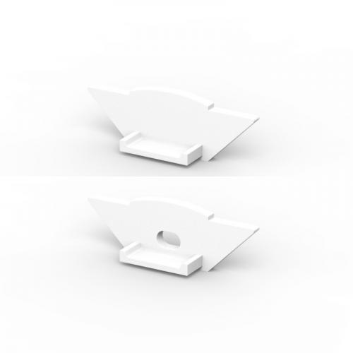 Zaślepki boczne do profili P7-1 białe (2 sztuki)