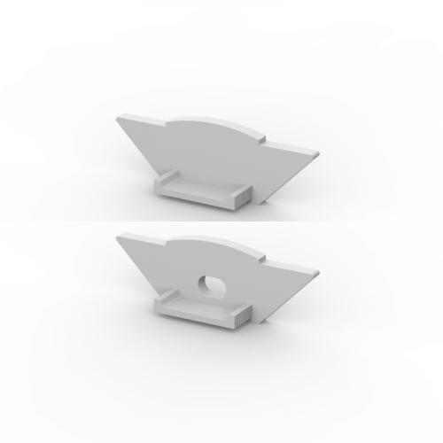 Zaślepki boczne do profili P7-1 srebrne (2 sztuki)