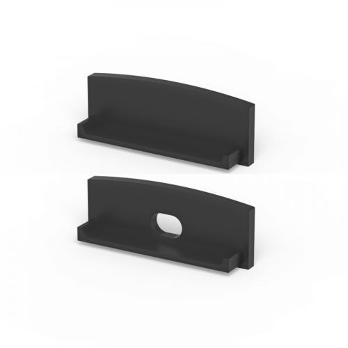 Zaślepki boczne do profili P13-1 czarne (2 sztuki)