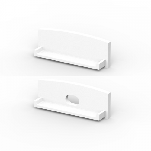 Zaślepki boczne do profili TLD13-1 białe (2 sztuki)