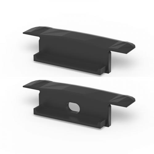 Zaślepki boczne do profili P14-1 czarne (2 sztuki)