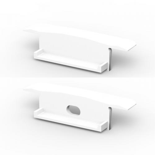 Zaślepki boczne do profili P14-1 białe (2 sztuki)