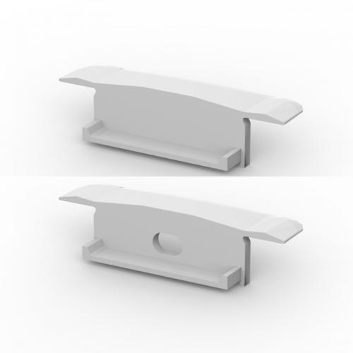 Zaślepki boczne do profili P14-1 srebrne (2 sztuki)