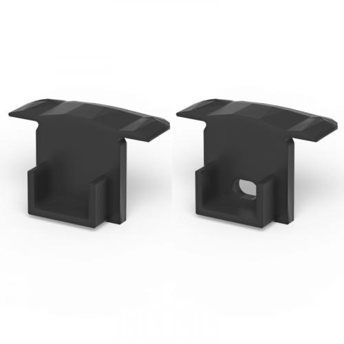 Zaślepki boczne do profili P18-1 czarne (2 sztuki)