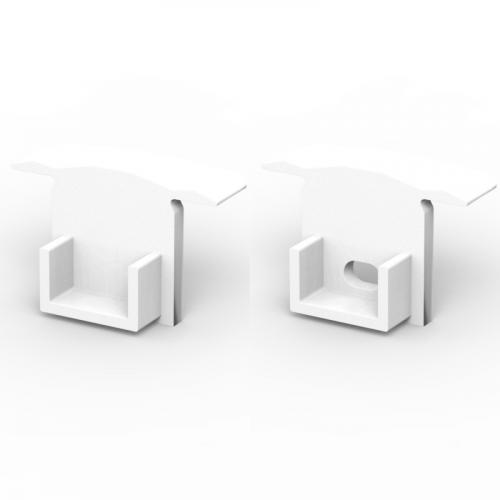 Zaślepki boczne do profili TLD18-1 białe (2 sztuki)