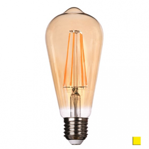 Żarówka LED LEDLINE E27 duży gwint ST64 6W biała ciepła filament