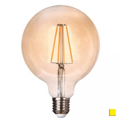 Żarówka LED LEDLINE E27 duży gwint G125 8W biała ciepła filament