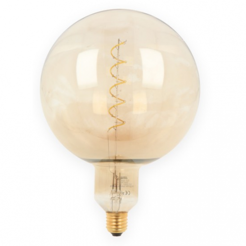 Żarówka LED LEDLINE E27 duży gwint G200 SPHERA srebrna 4W biała zimna filament