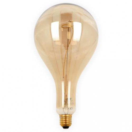 Żarówka LED LEDLINE E27 duży gwint PS160 STILLA srebrna 4W biała zimna filament