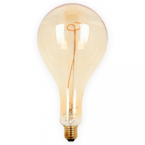 Żarówka LED LEDLINE E27 duży gwint PS160 STILLA złota 4W biała ciepła filament