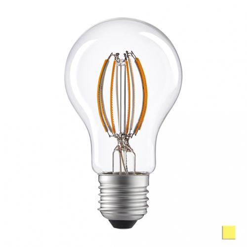 Żarówka LED LEDLINE E27 duży gwint A60D 8W biała dzienna filament ściemnialna