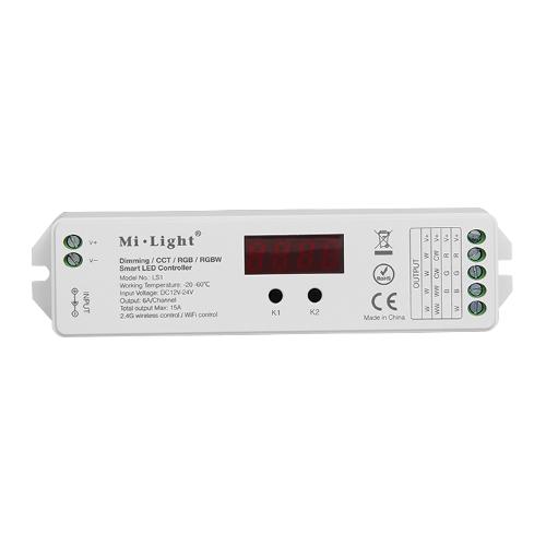 Inteligenty odbiornik Mi-Light MONO/CCT/RGB/RGBW RF do rozbudowy zestawu 180W