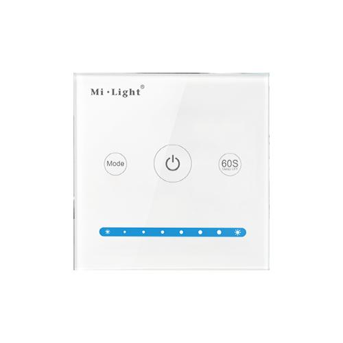 Inteligentny panel sterowania MONO Mi-Light przewodowy szklany 120W