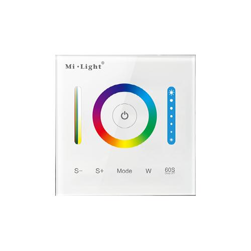 Inteligentny panel sterowania RGB+CCT Mi-Light przewodowy szklany 180W